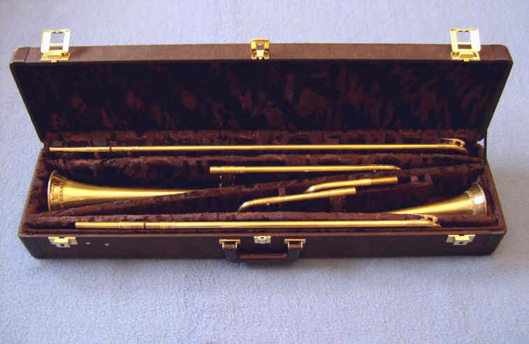 double-case tenor and alto sackbut