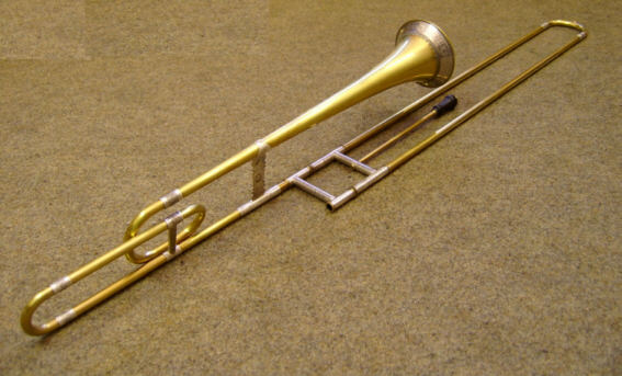 Bass-Sackbut Model Hainlein with sterling -silver (925) set